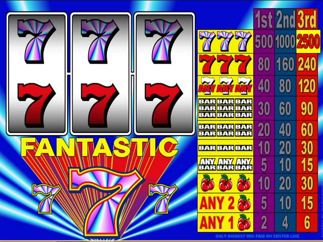Fantastic 7's Online Slot Game