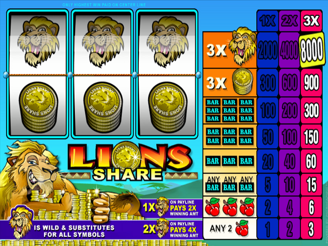 Lions Share Slot Online Game