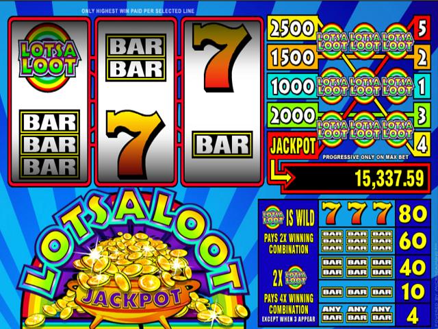 LotsaLoot 3-Reel Online Slot Game