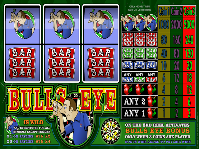 Bulls Eye 3-Reel Online Slot Game
