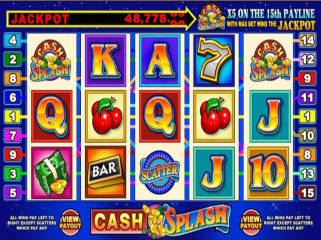 Cash Splash 5-reel Online Slot Game
