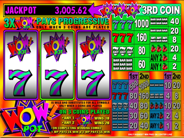 Wow 3-Reel Online Slot Game