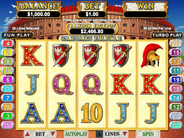 Caesar's Empire Online Slot Game