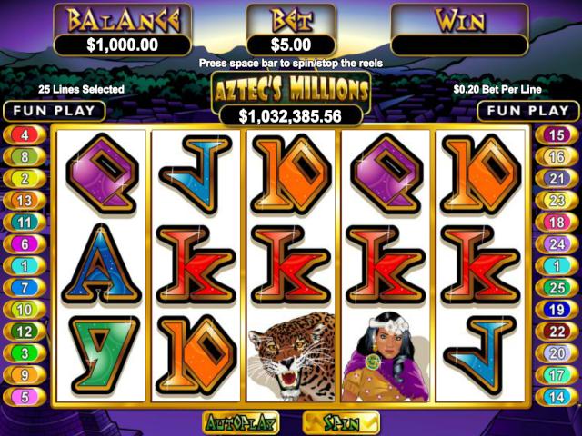 Aztec's Millions Online Slot Game