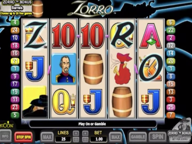Zorro Online Slot Game